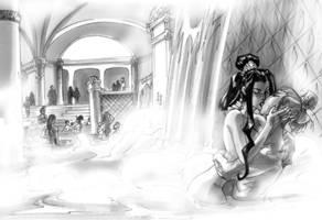 Bath house of Gethamane by MelUran