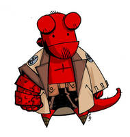 Hellboy Chibi by MelUran