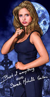 Buffy poster with 'signature' by tygerbug