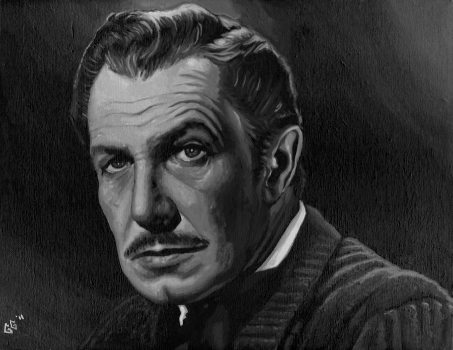 Vincent Price - Acrylic by tygerbug