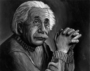 Albert Einstein - Acrylic by tygerbug