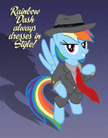 Rainbow Dash Always Dresses in Style by tygerbug