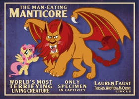 Manticore Poster 5x7 by tygerbug