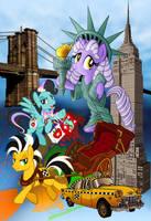 Big Apple Ponycon poster (No text) by tygerbug