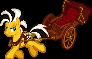 Cabbie (with rickshaw) by tygerbug