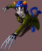 Nepeta Leijon Attacks (color) by tygerbug