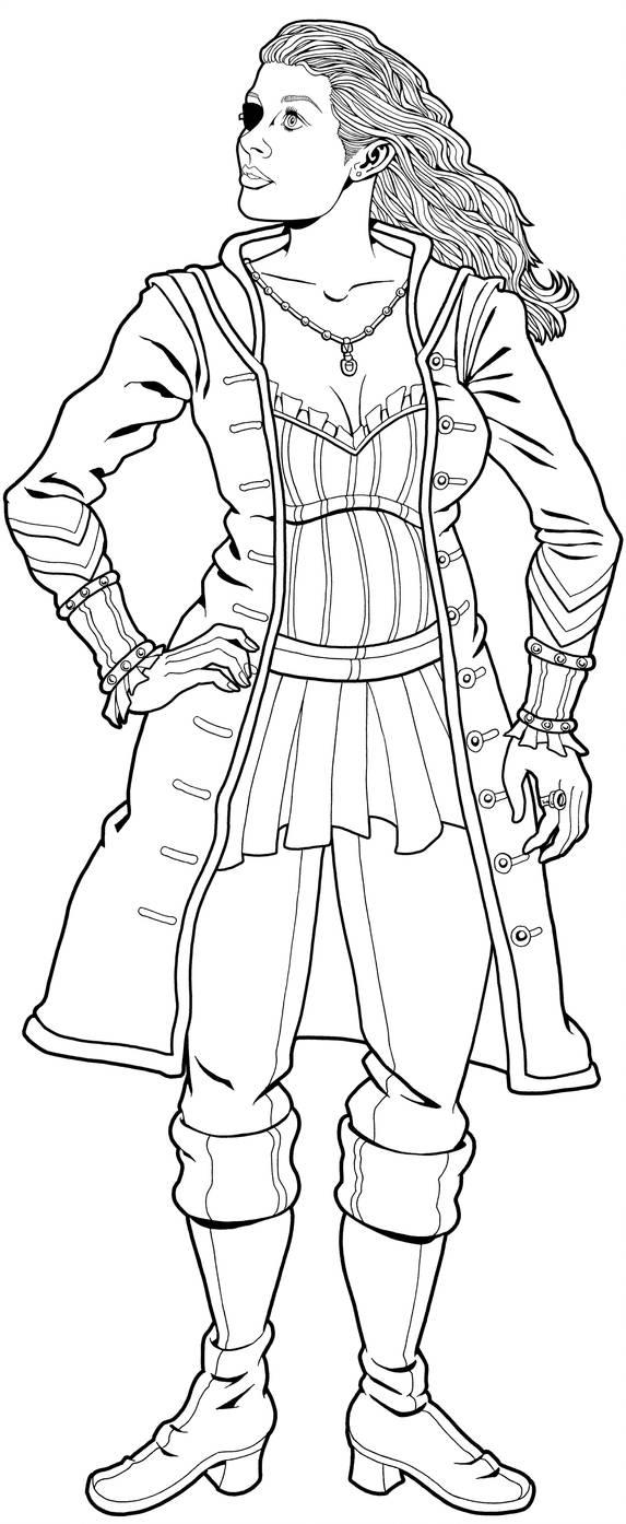 Scarlet, a pirate by tygerbug