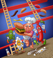 Burgertime (Garbage Pail Kids) by tygerbug