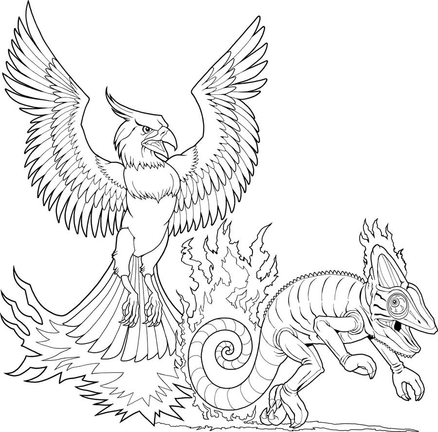 Coleco Phoenix vs. Chameleon by tygerbug