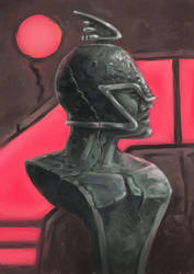 Neon Classical Bust by LaughtonMcCry