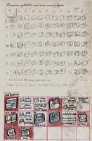 Brumian Syllables and Glyphs by LaughtonMcCry