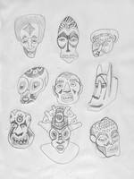 mask scribbles by LaughtonMcCry