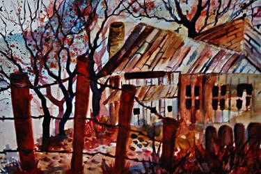 Brown Barn by SHILLBELOR