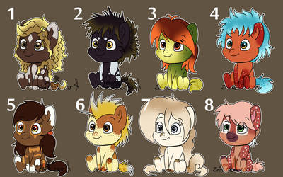Ponys Chibis Adoptable 150 each one (closed) by Zoba22