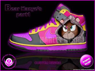 Kanye's Teddy Custom Kicks by HarleyTheProdigy