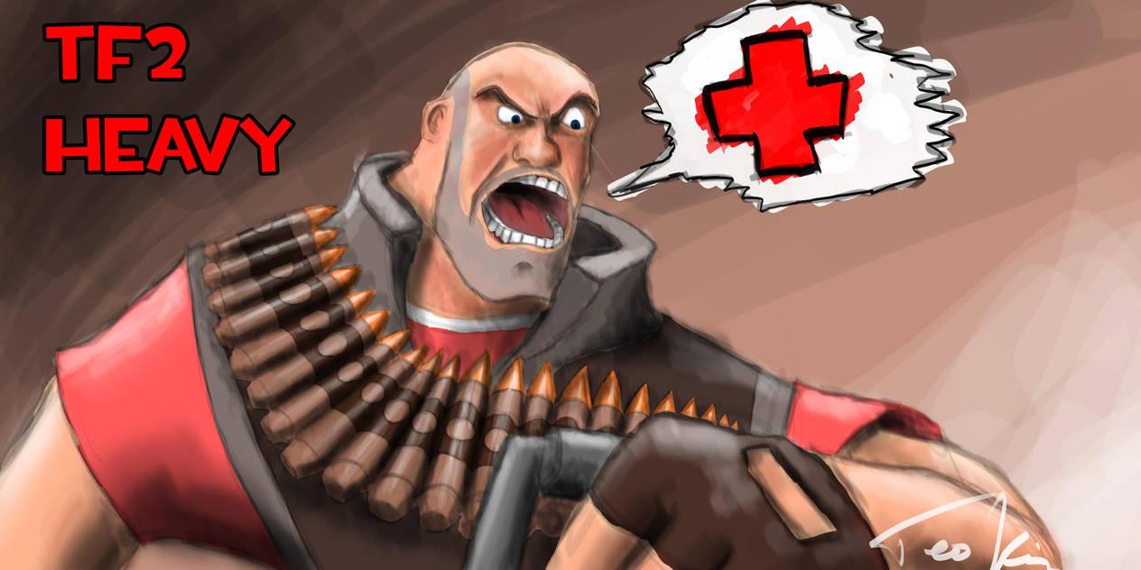 heavy weapons guy by teonardo on deviantart