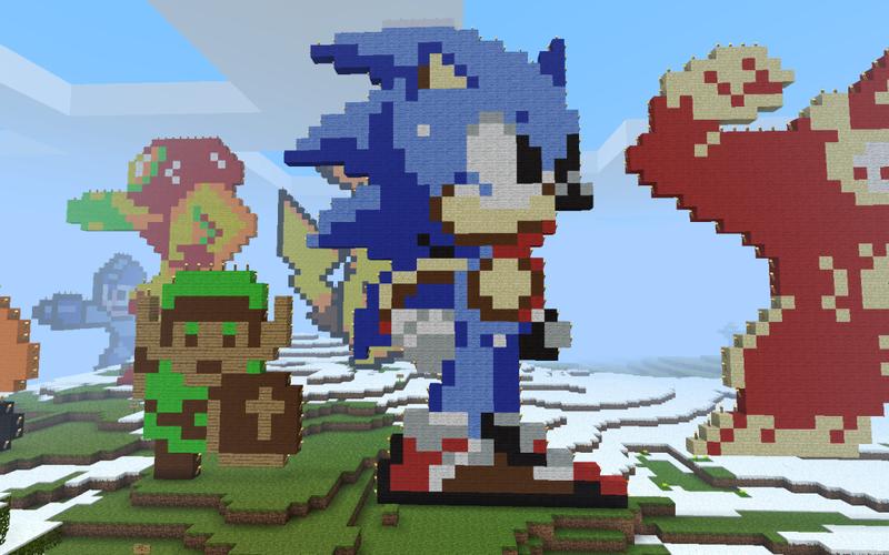 Minecraft 8 Bit Sonic By Tt Gal On Deviantart
