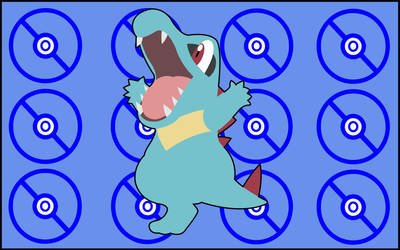 Totodile by Chiawaca
