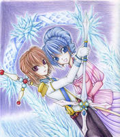 Pricess and Knight-colorpencil by Shin-Wolf