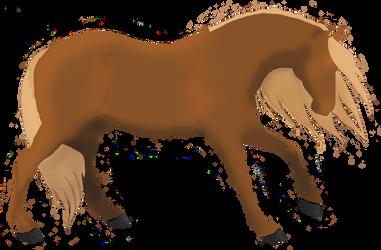 Minimalist Horse by MegawackoRileyx