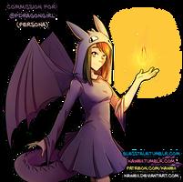 [Commission] DragonGirlArtStudios persona by Kaweii