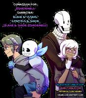 [Commission] Shade and Blake by Kaweii
