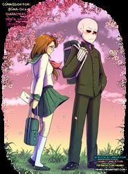 [Commission] Dee and Kayla - SailorFuku and Senpai by Kaweii