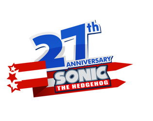 Sonic 27th Anniversary Logo by SonicWind-01