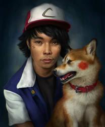 Ash and Kira-chu by TamberElla