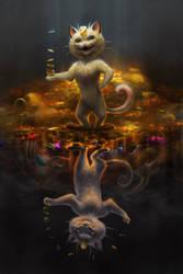 Meowth Mirrored by TamberElla