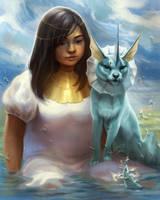 Vaporeon Water Priestess by TamberElla