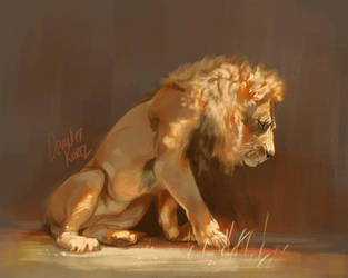 Lion Sketchy Paint June 2 by TamberElla