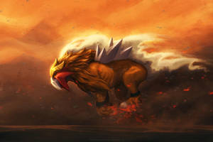 Entei Running by TamberElla