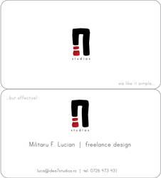 biz card idea7 dv.1 by Luckianm
