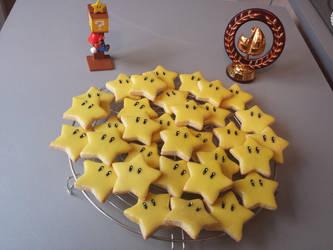 Edible Super Mario stars by Minakosplay
