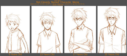 Character Ages Meme: Simon by pinali