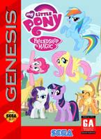 My Little Pony: FIM Sega Genesis Box Art by SegaGenesis4100