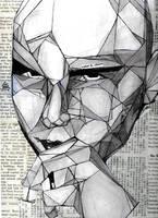 Billy Corgan cubism by rainspirit