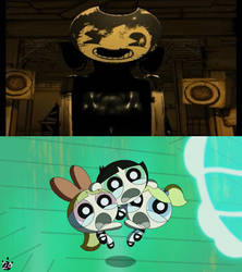 The Powerpuff Girls Are Scared of Sammy Lawrence by catface20