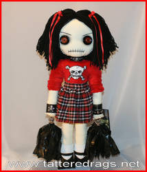 cheerleader rag doll by Zosomoto