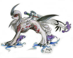 Absol Okami - Sword by blazheirio889