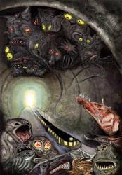 The Dark Tunnel by davidgil-illustrator