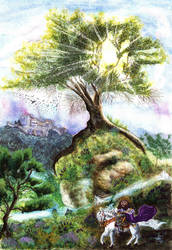 The Royal Forest of Leiria by davidgil-illustrator