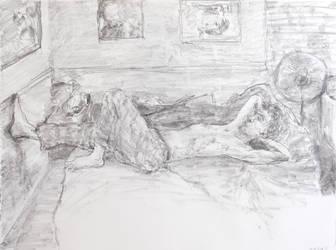 Joe on bed in room by enzoshoe