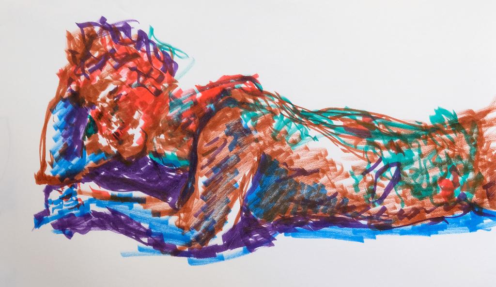 Joe Lying in Color by enzoshoe