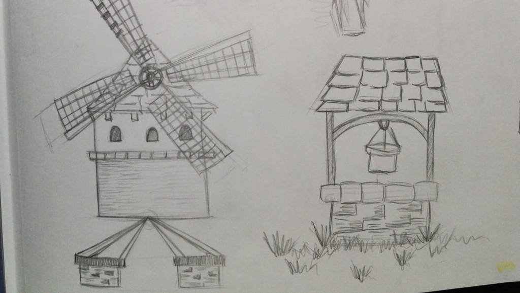 Windmill and well by AriamBe