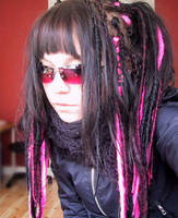 My ID- Pink glasses and dreads by wasteddreams
