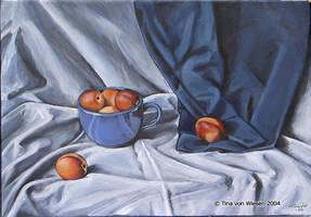 Blue cup by wasteddreams