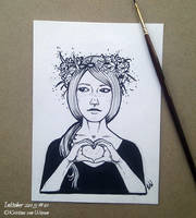 Inktober 01 - Heart by wasteddreams