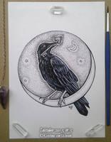inktober 05 Ravens Key by wasteddreams
